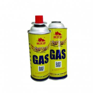Portable camping butane gas canister manufacturing for portable stove
