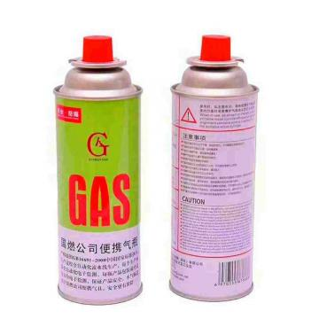 Camping Round Shape Butane Gas Canister 220gr Nozzle Type