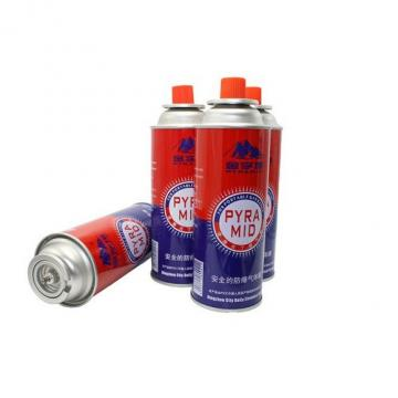 Butane gas can spray Round Shape Portable butane gas cartridge and butane gas canister