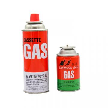The empty mint tin butane gas canister and mini aerosol butane gas can butane gas 300ml