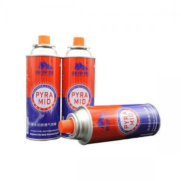 BBQ Fuel Cartridge Butane gas canister 220g and tinplate BBQ butane gas cartridge