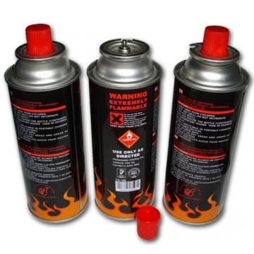 Fuel Energy Empty Tinplate Safety Powerful Butane Gas Canister 220G butane gas 300ml