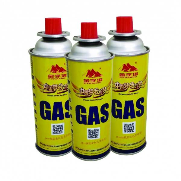 BBQ lighter gas METAL BOX straight aerosol can AND straight wall butane fuel cartridge #1 image